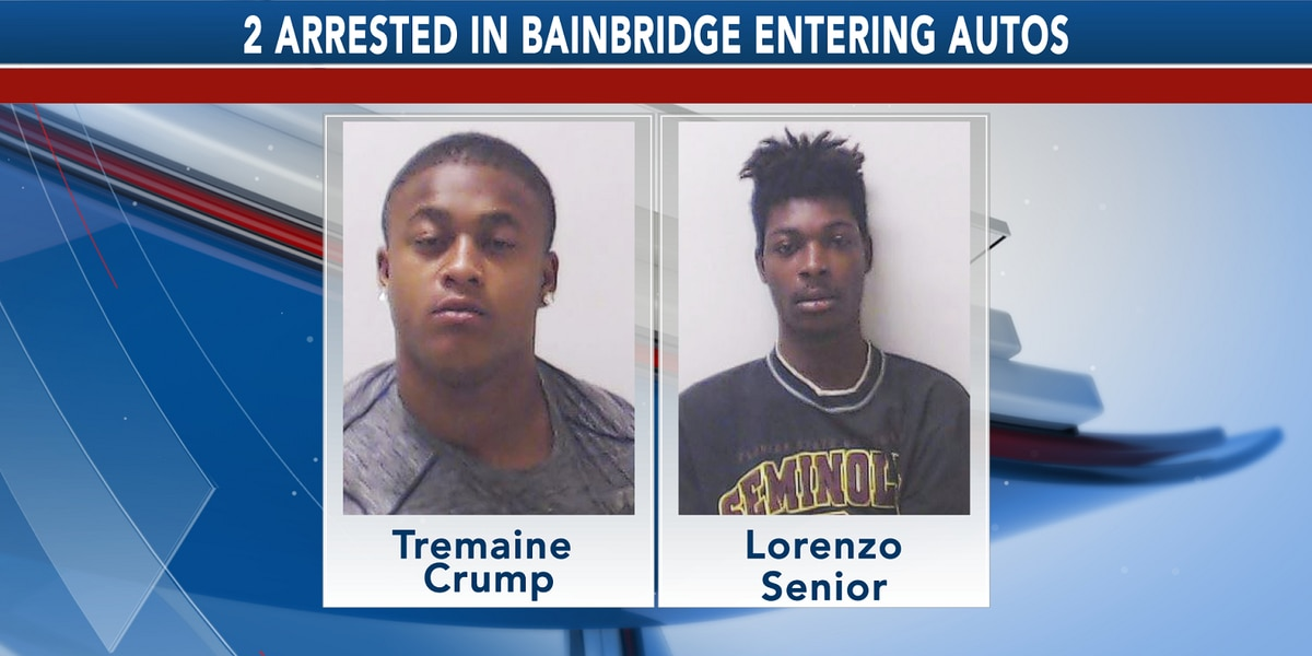 Entering auto suspects arrested in Bainbridge