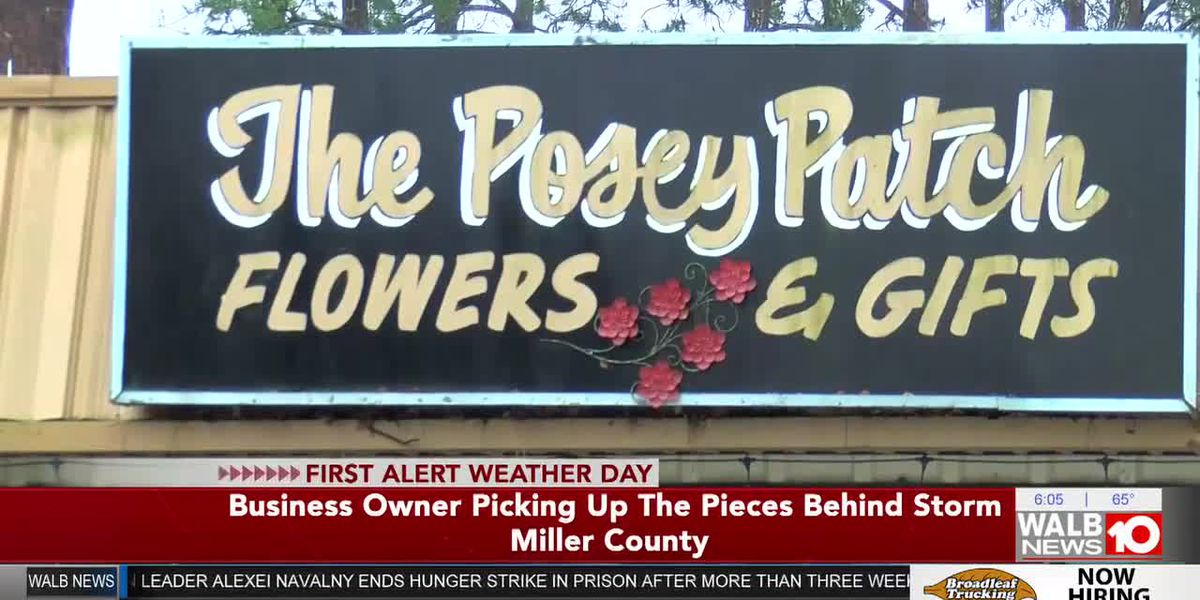 Colquitt flower shop owner picking up the pieces after Saturday's severe weather