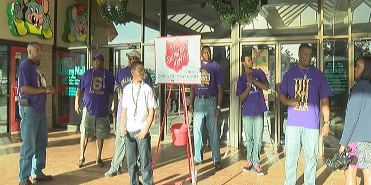 Fraternity rings bells for Salvation Army