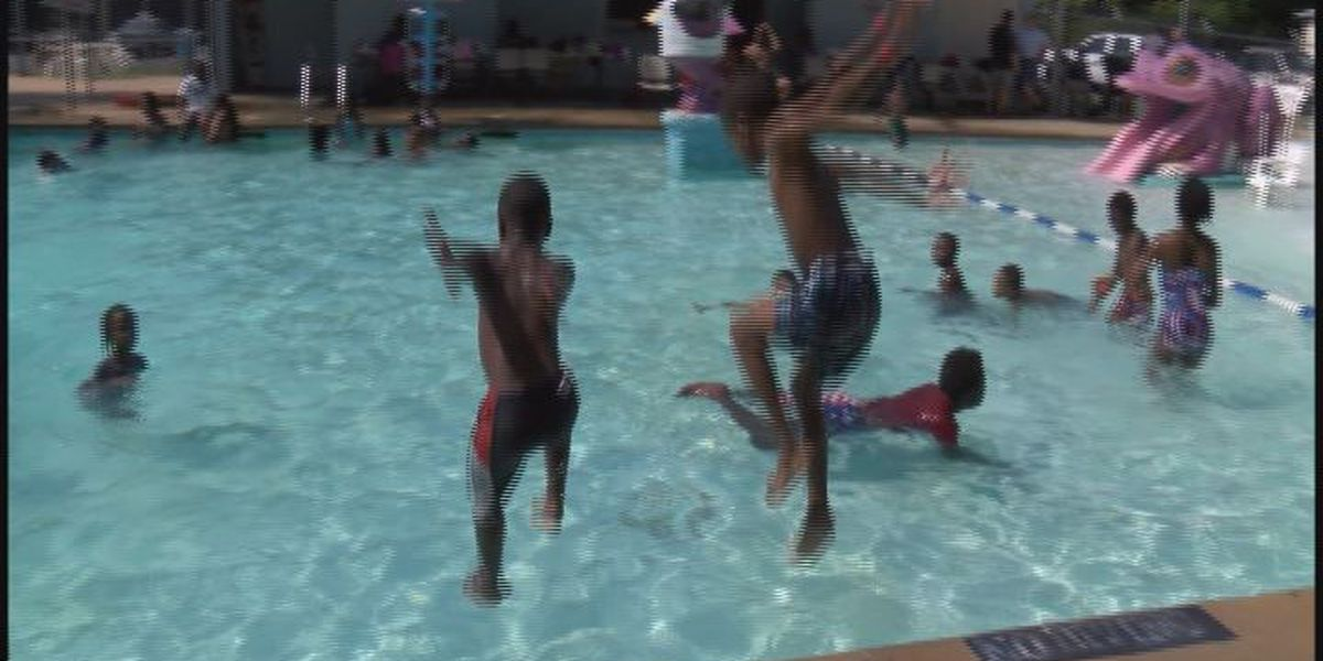 Pool party brings cops and kids together
