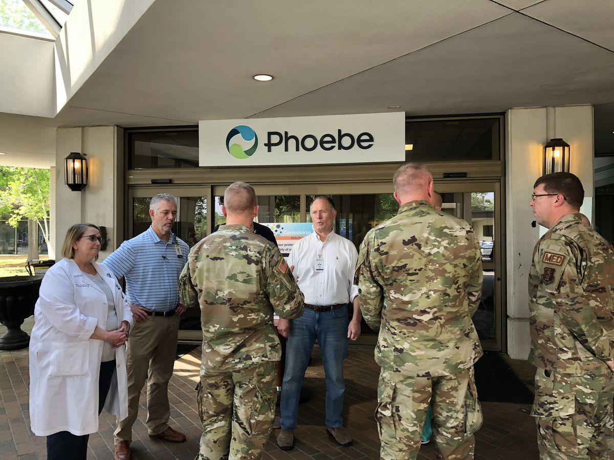National Guard visits Phoebe; Hospital system releases Saturday COVID-19 numbers