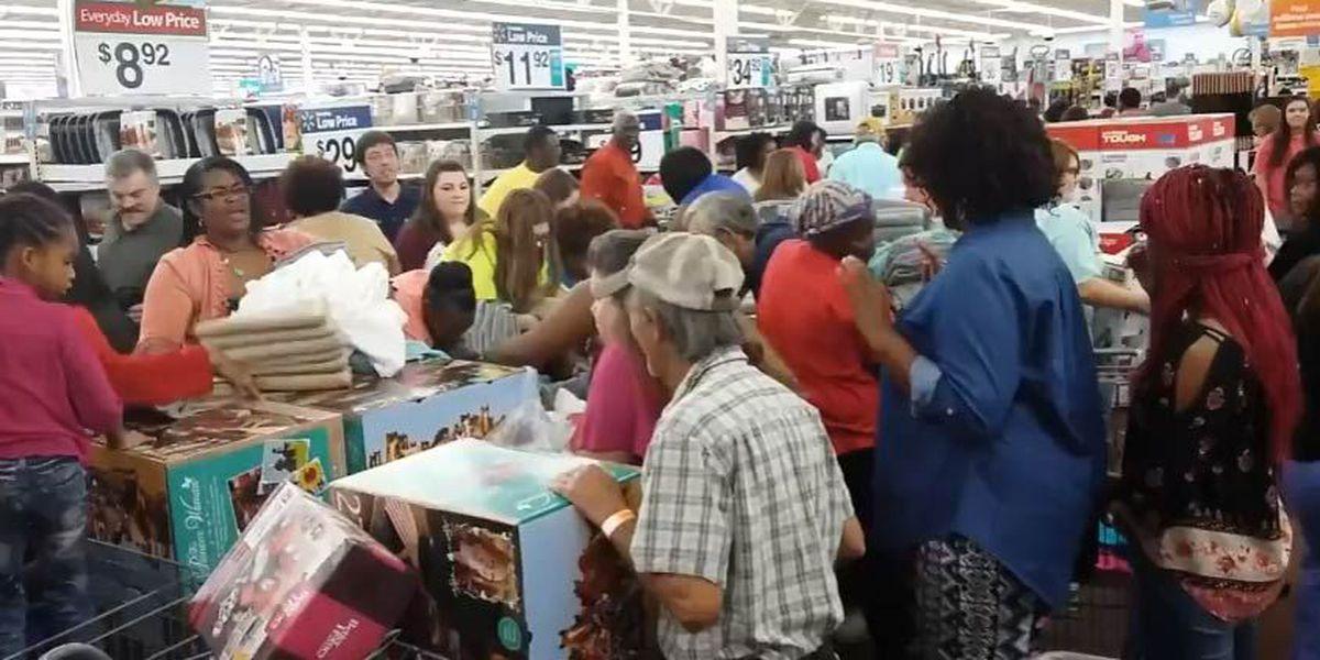 VIDEO Woman Falls Into Towel Box During Walmart Black Friday Shopping