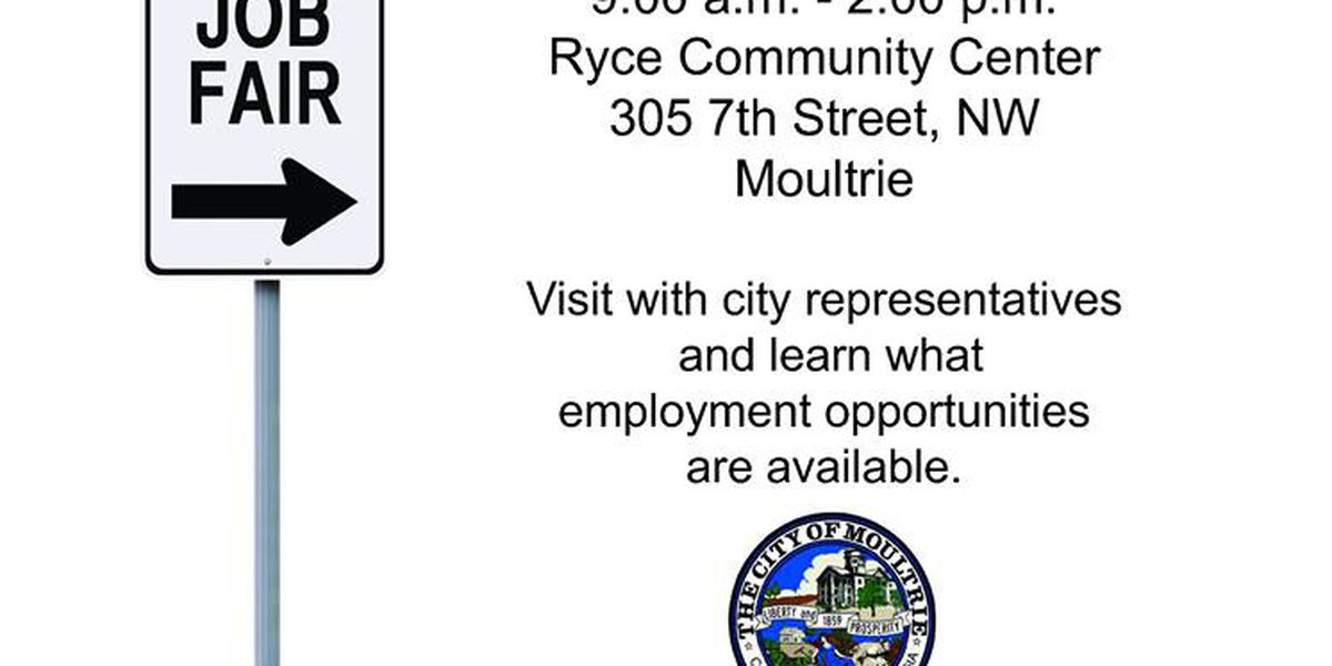City of Moultrie to host job fair