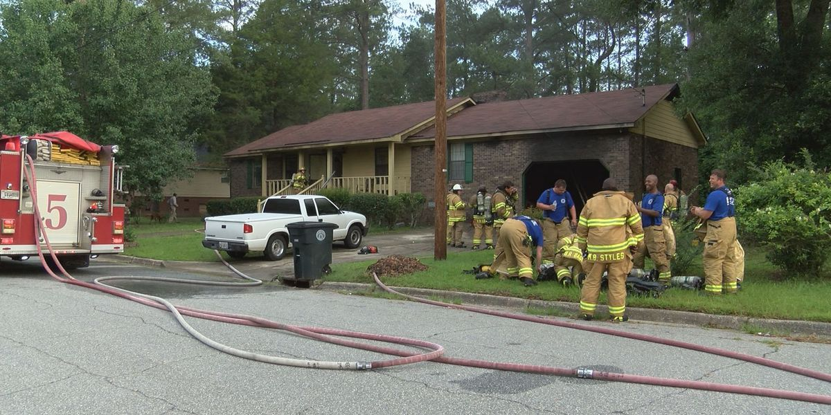 Family displaced after morning house fire
