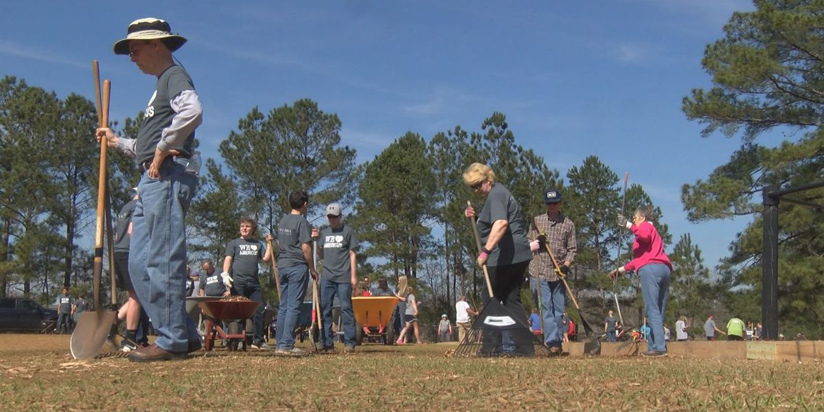 Church builds playground for Americus school
