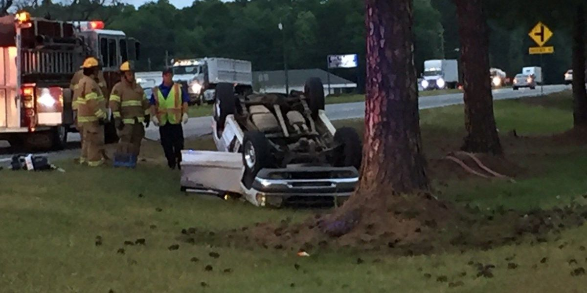 Overturned vehicle causing delays on Albany bypass
