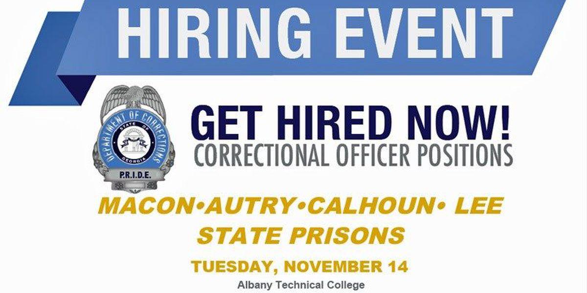 Georgia Corrections hosts job fair