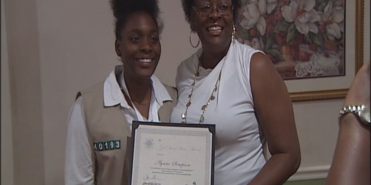 Girl scouts honored for achievements