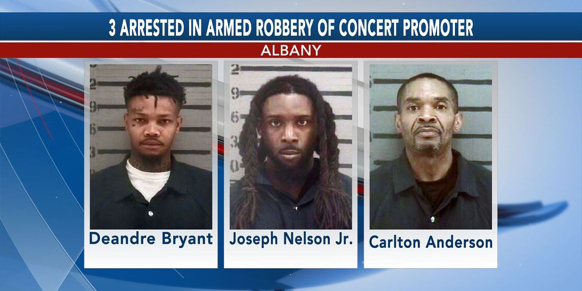 3 arrested, 1 wanted in Albany armed robbery of concert promoter
