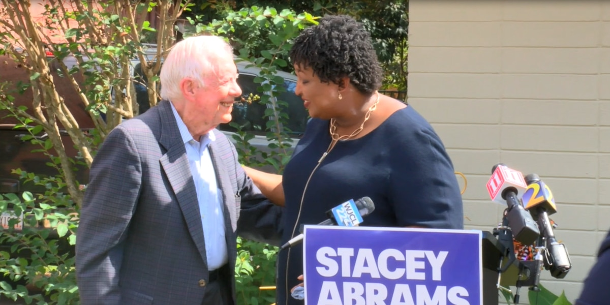 President Jimmy Carter and Stacey Abrams meet in Plains