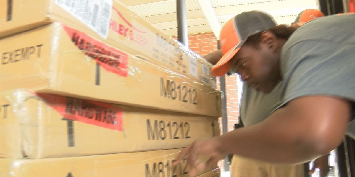 Ashley Furniture donates beds for young storm victims
