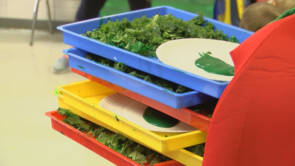 Crisp Co. preschoolers 'kick it with kale'
