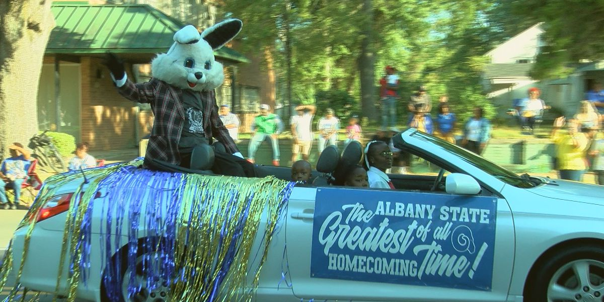 People lined the streets for Albany State University's 2019 Homecoming Parade