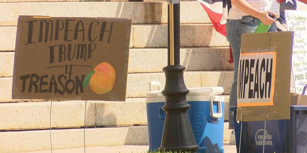 "Folks participate in ""Impeach Trump"" rally, counter protest"
