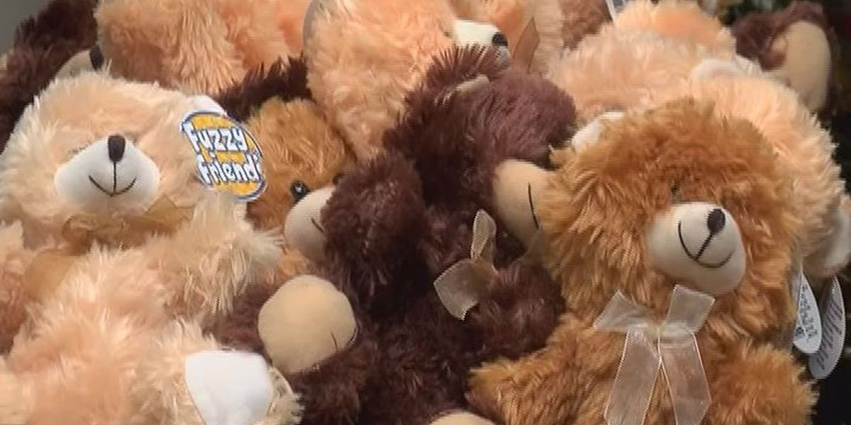 Mitchell County kickball team delivers teddy bears to Phoebe Putney