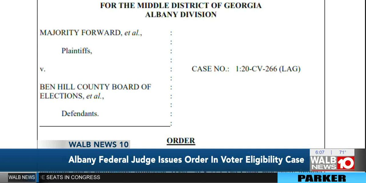 Albany federal judge issues order in voter eligibility case