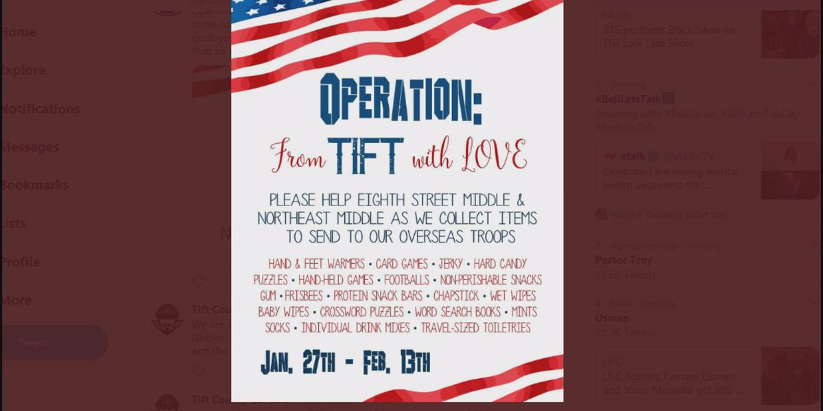 'Operation from Tift with Love' kicks off to support deployed troops