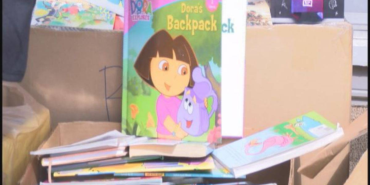 Students collect books to help foster children