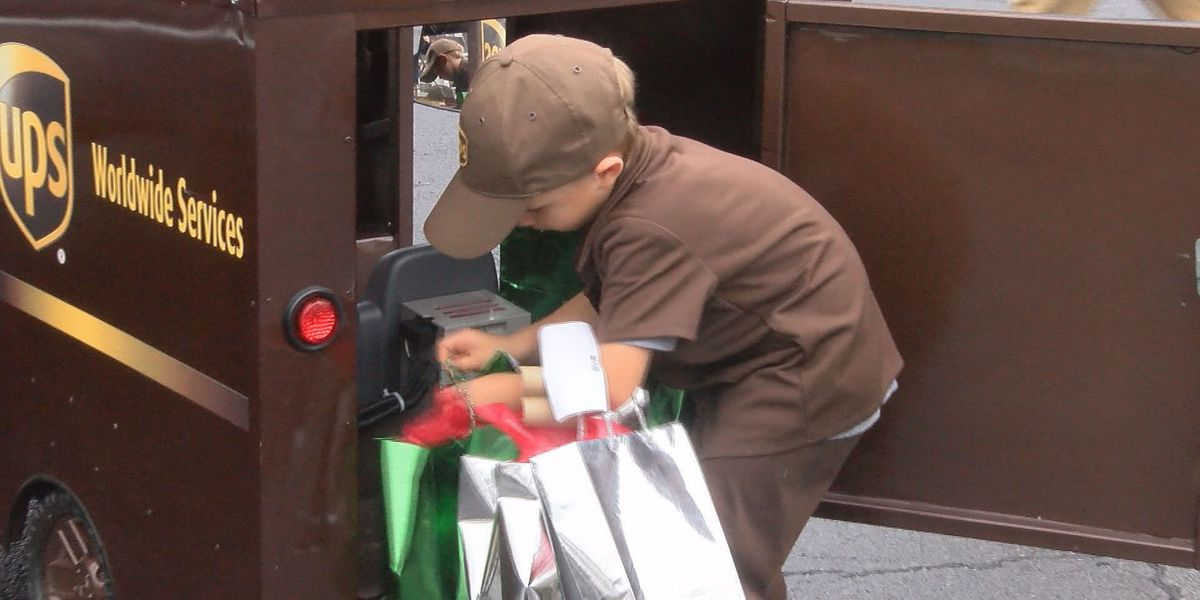 Young boy gets 'wish' of being UPS delivery man