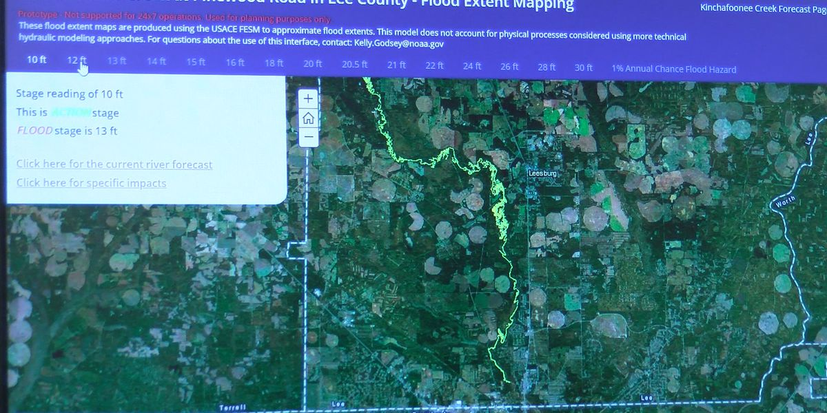 NWS creates new flood mapping product for Lee Co. creeks
