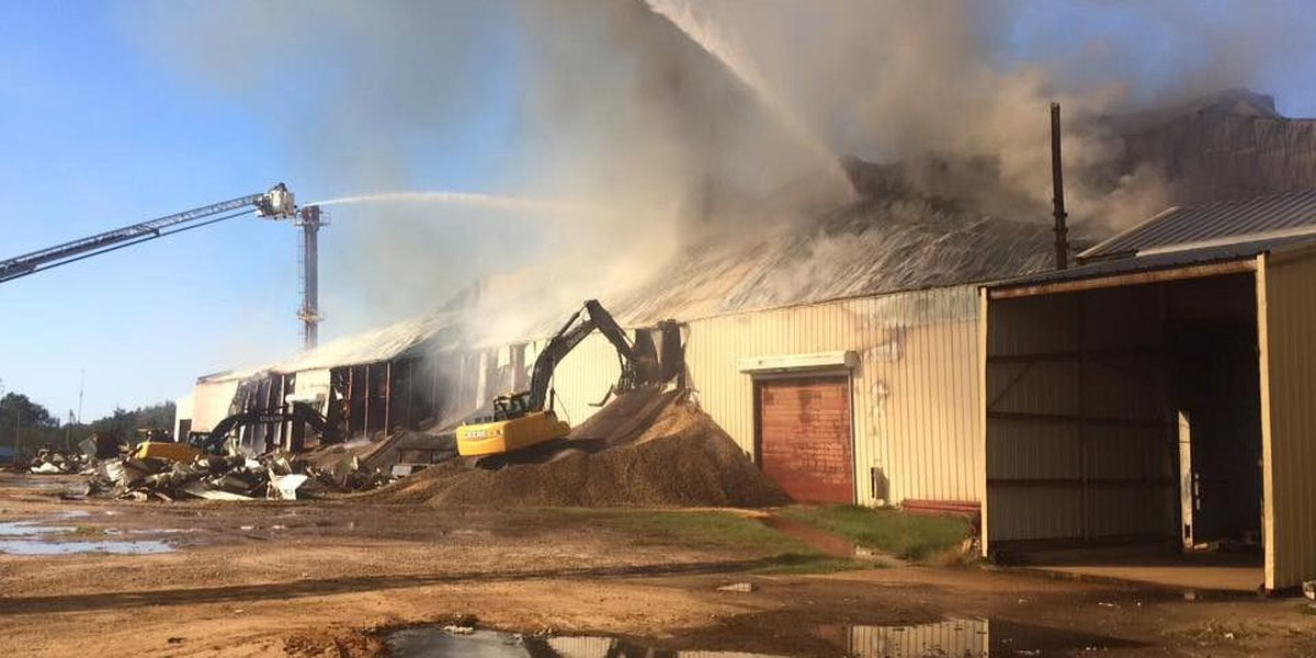 Massive fire rips through peanut warehouse