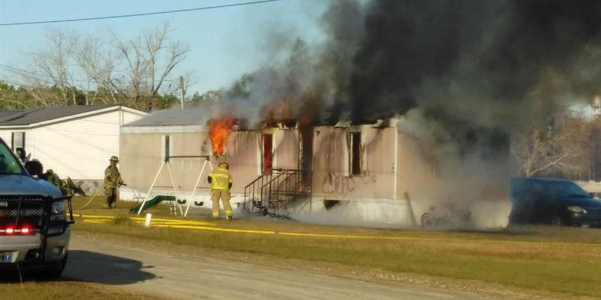 Sycamore mobile home a total loss after fire