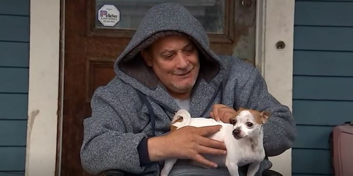 Paralyzed man overjoyed to be reunited with stolen dog