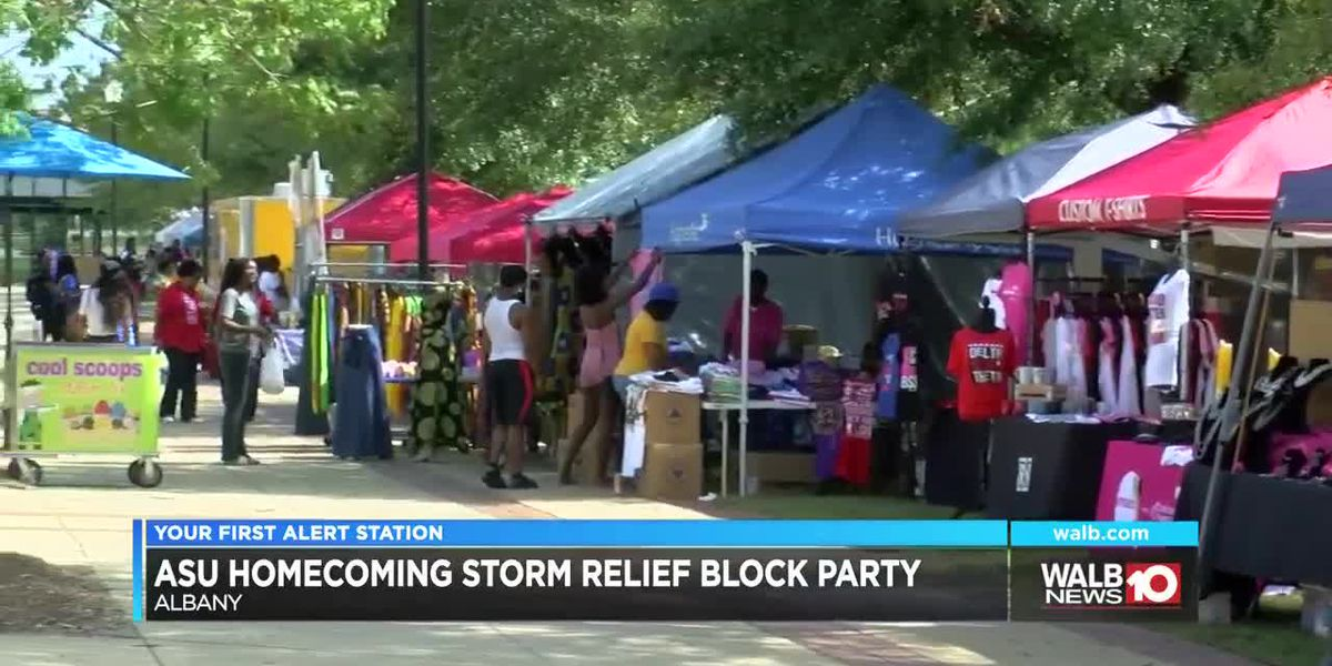 ASU Homecoming storm relief block party