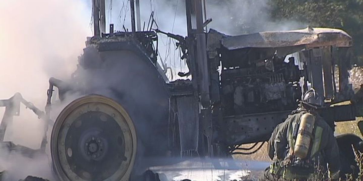 Terrell Co. tractor burns