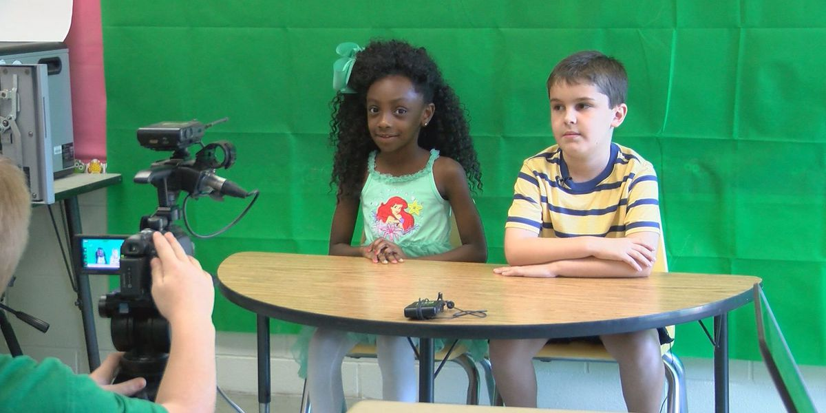 ECES students create newscasts of their own