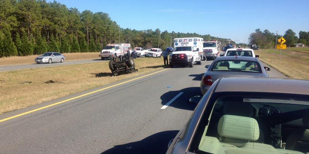 Helicopter transports patient in Worth wreck