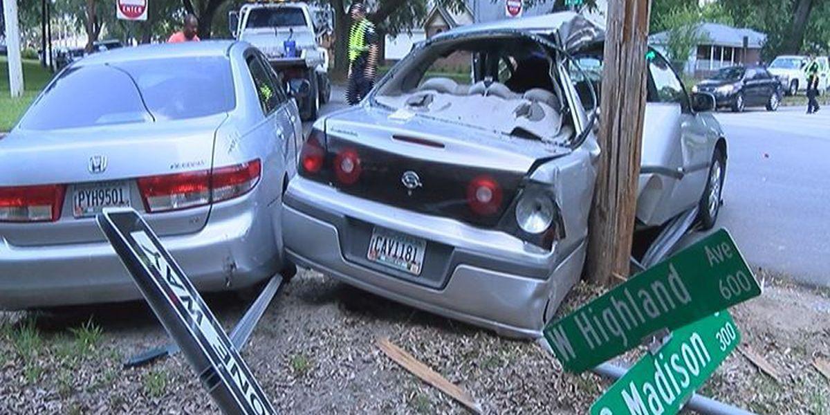 Paramedics treat drivers in Albany two car crash