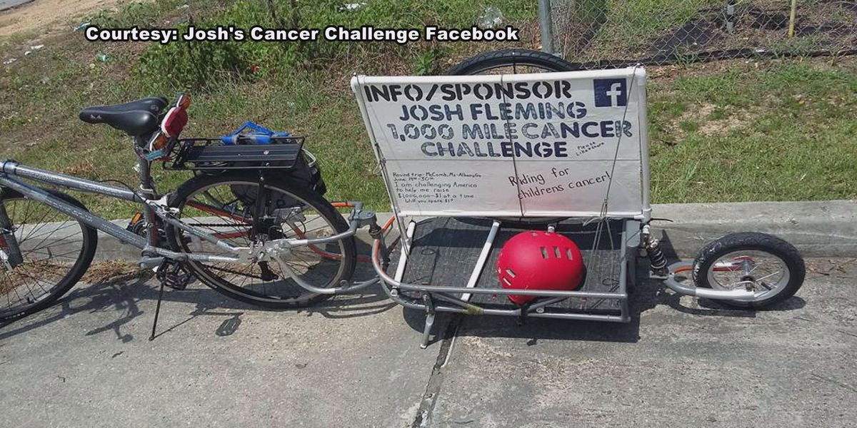 Cyclist undergoes challenge to fight childhood cancer