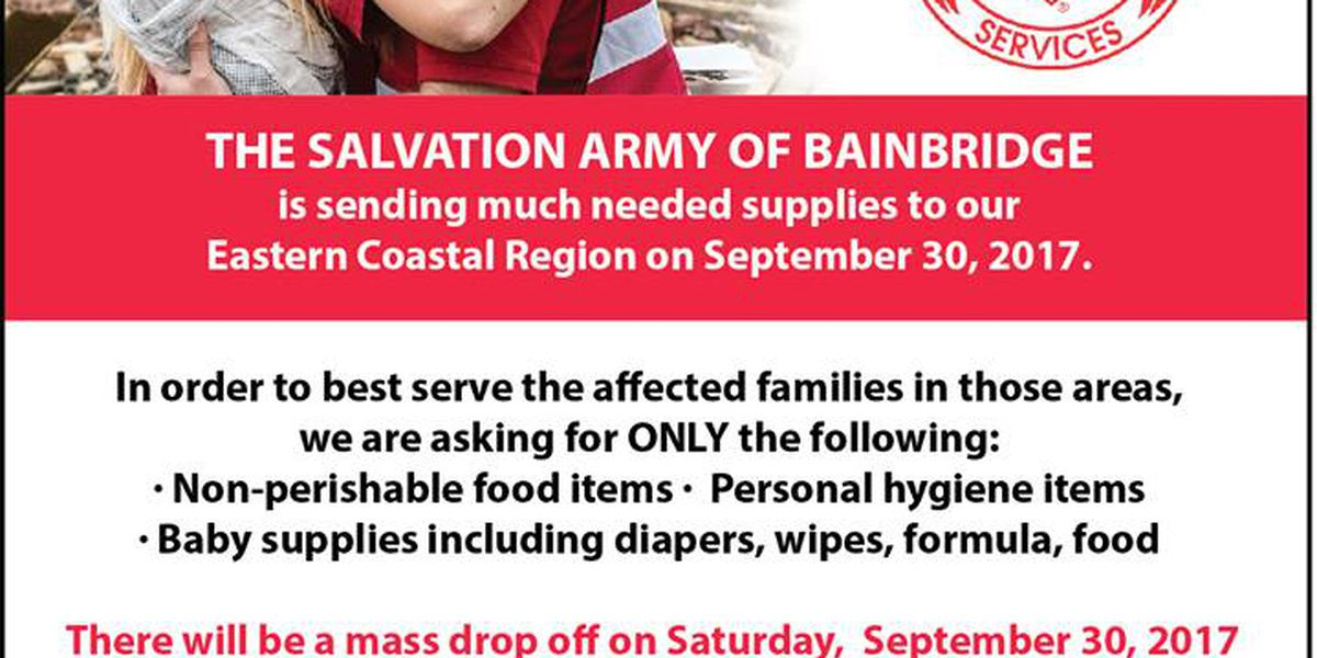 Bainbridge Salvation Army collects donations for Irma relief