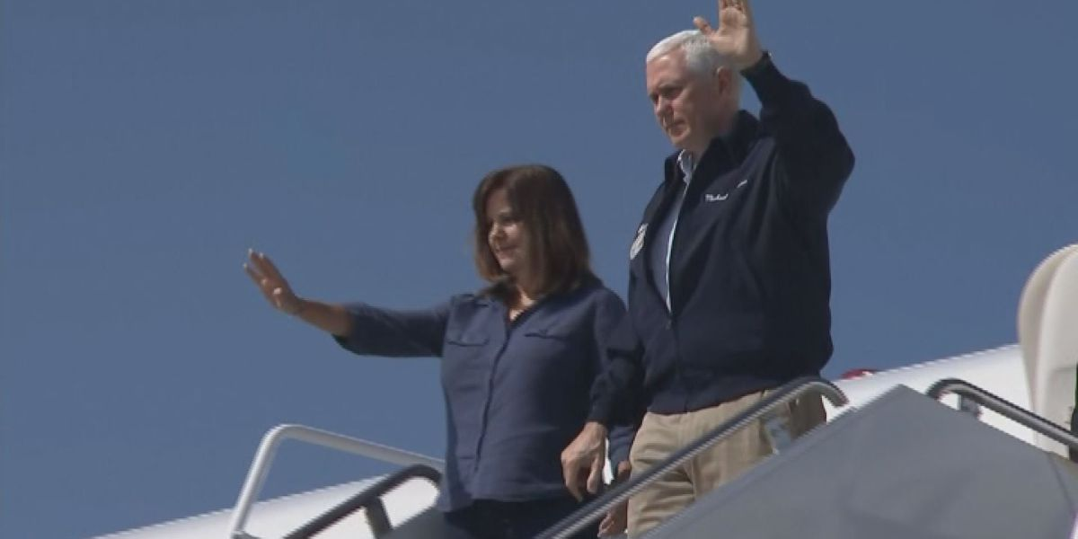 Vice President Mike Pence lands in Albany