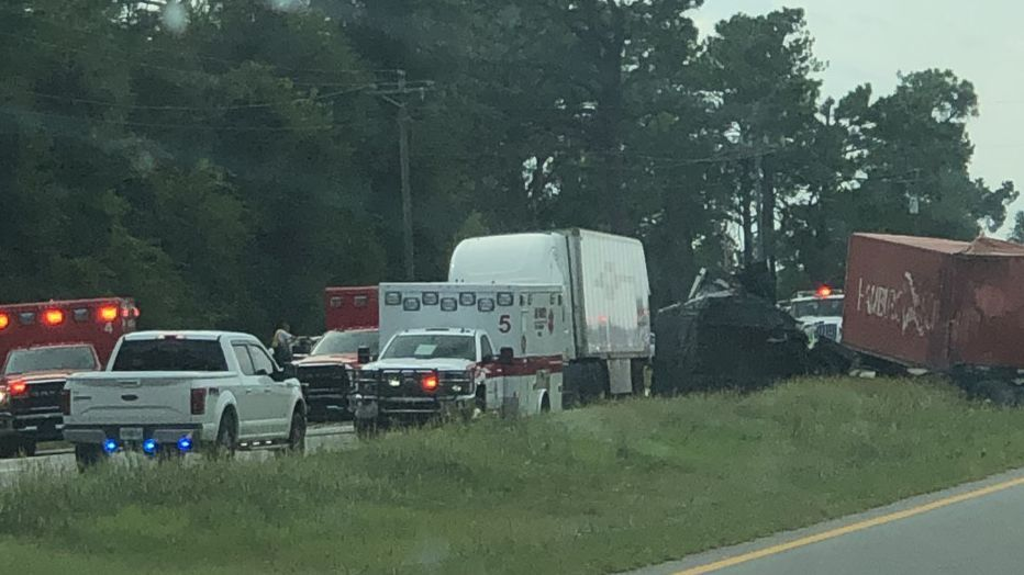 UPDATE: Driver in Lee Co. wreck airlifted to hospital