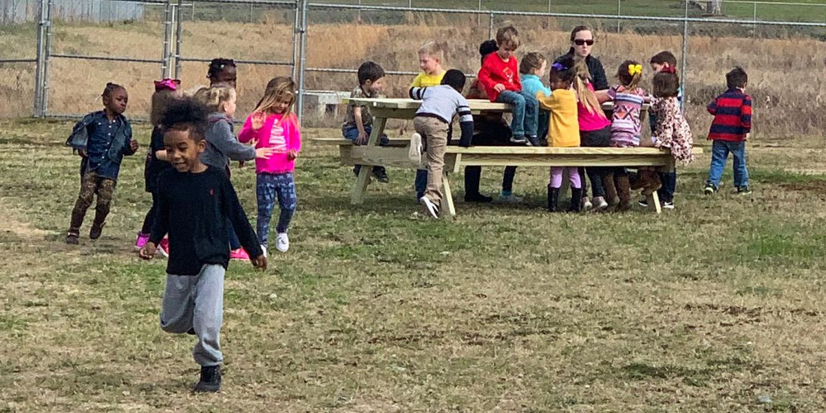 Wilcox Co. Schools students, faculty enjoy picnic table donations