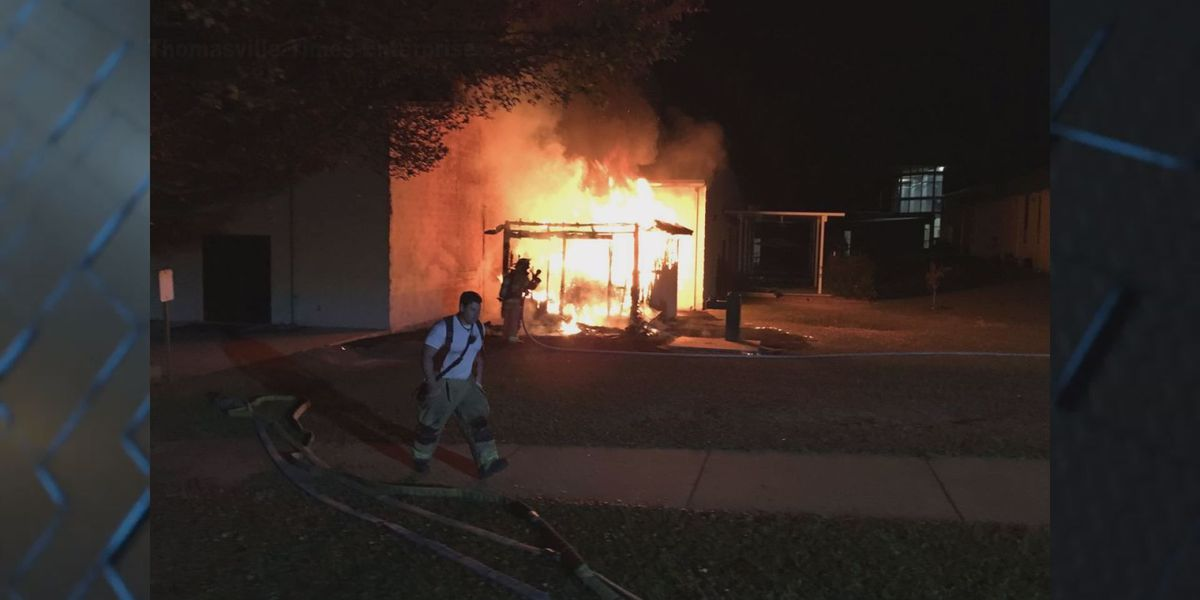 Thomas Co. school storage building destroyed by possible arson