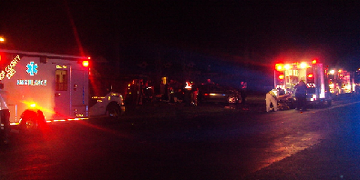 Seven injured in Crisp County crash