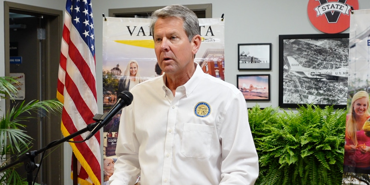 Gov. Kemp visits Valdosta in statewide budget tour, commenting on gas pipeline cyber attack and labor shortage