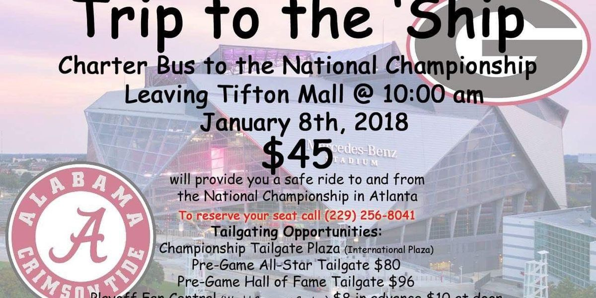 'Trip to the Ship' charter bus from Tifton to Atlanta