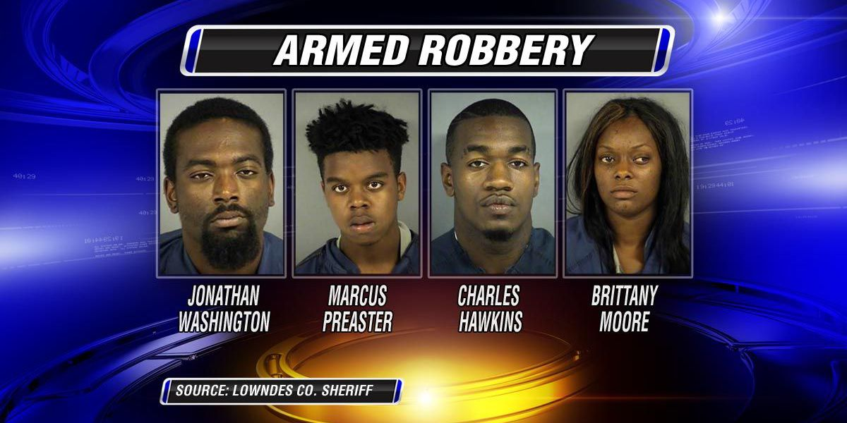 Four arrested for armed robbery in Valdosta