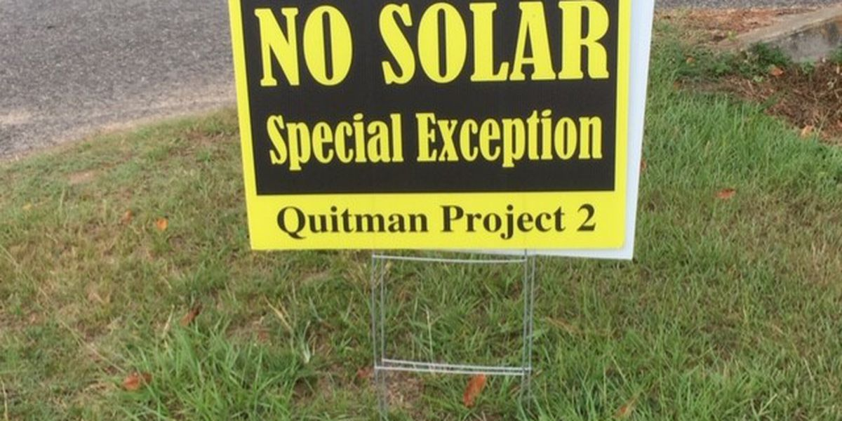 Community torn on possible second solar facility in Quitman