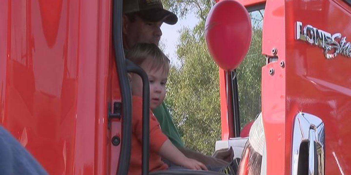 """Kids get behind the wheel at """"Touch A Truck"""""""