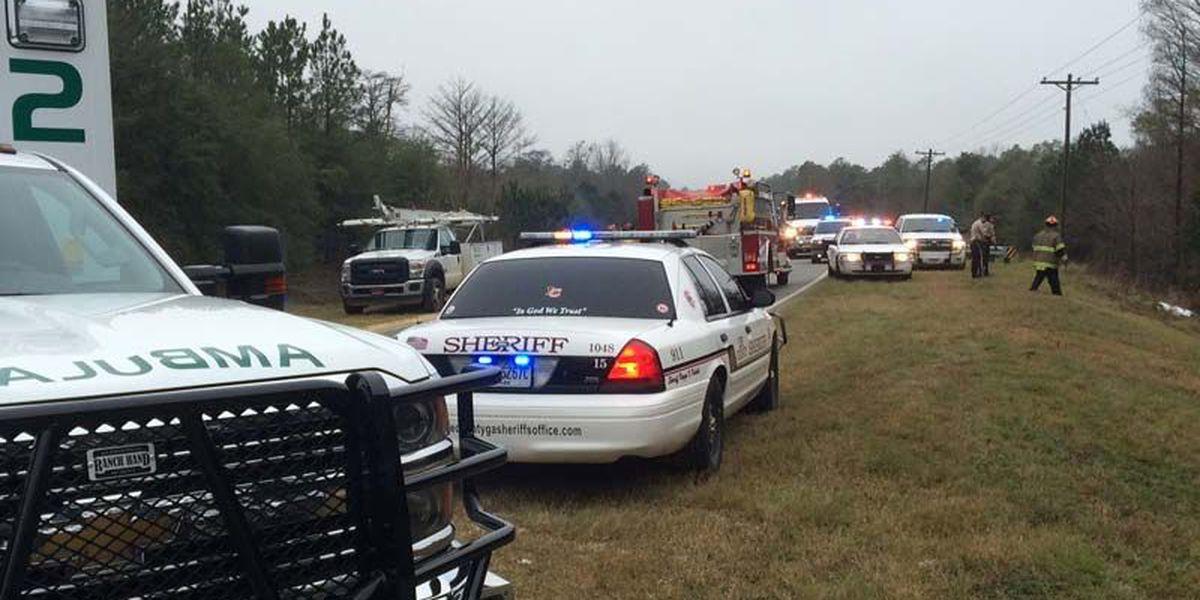 Woman hospitalized after Lee Co. crash