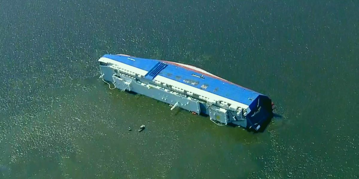 Salvage crews give update on capsized cargo ship off Ga. coast