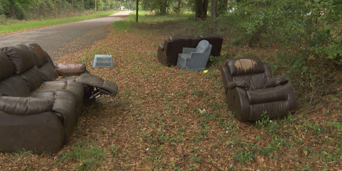 Officials investigate illegal dumping on Kieve Avenue