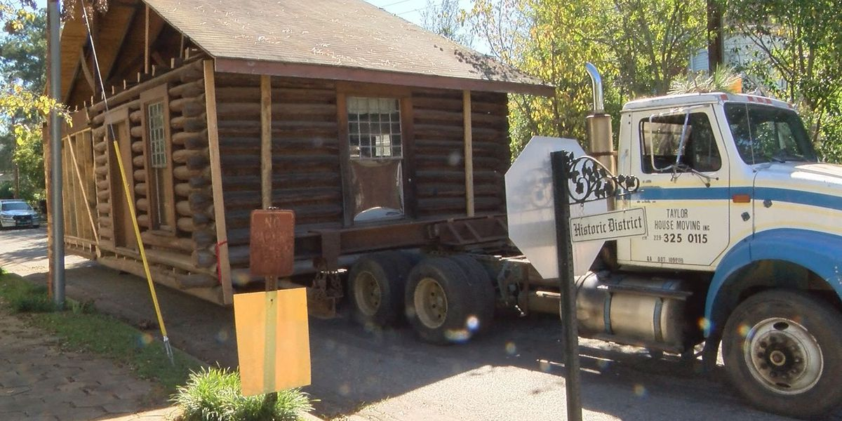 Historic log cabin relocated to be more visible