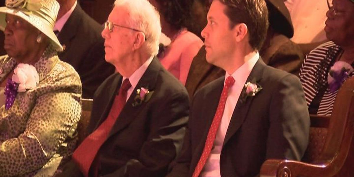 President Jimmy Carter is guest speaker at Albany church