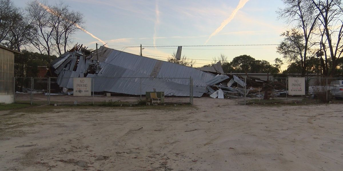 Albany Rescue Mission thrift store warehouse destroyed by storm